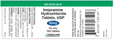 Imipramine Tablets 50mg, 100 tablets