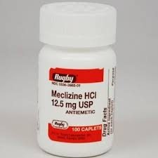Meclizine 12.5mg, 100 tablets